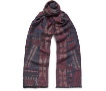 Patterned Wool And Silk-blend Scarf
