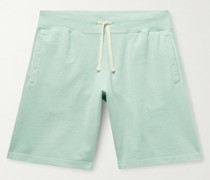 Pigment-Dyed Loopback Cotton-Jersey Drawstring Shorts
