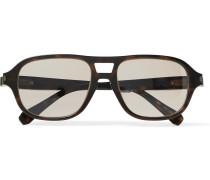 Aviator-style Tortoiseshell Acetate Photochromic Sunglasses