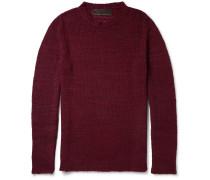 Herringbone-knit Cashmere Sweater