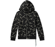 Logo-Print Cotton-Jersey Zip-Up Hoodie
