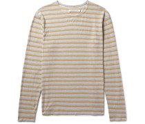 Isidro Striped Hemp And Organic Cotton-blend T-shirt
