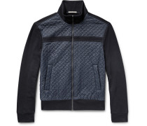 Slim-fit Cotton And Quilted Nylon Jacket