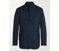 Unstructured Cotton-Blend Blazer