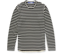 Slim-fit Striped Cotton-blend T-shirt