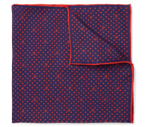 Logo-Print Silk-Twill Pocket Square
