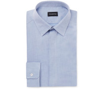 Slim-Fit Linen and Cotton-Blend Shirt