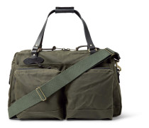 48-Hour Leather-Trimmed Tin Cloth Duffle Bag