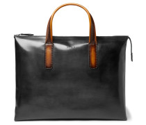 Perspective Moderniste Polished-leather Briefcase