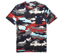 Camouflage-print Cotton-jersey T-shirt