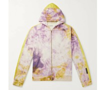 Ashbury Shell-Panelled Tie-Dyed Loopback Cotton-Jersey Zip-Up Hoodie