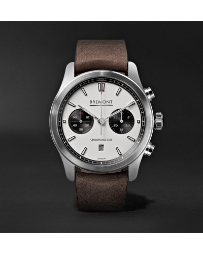 Alt1-c Automatic Chronograph 43mm Stainless Steel And Leather Watch - White