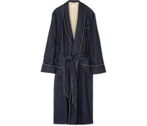 Duke Herringbone Cashmere Robe
