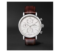 Portofino Automatic Chronograph 42mm Stainless Steel and Alligator Watch, Ref. No. IW391027