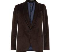 Hugo Shawl-Collar Cotton-Velvet Tuxedo Jacket