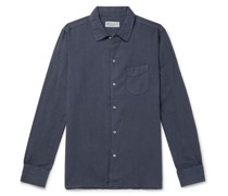 Garment-Dyed Cotton and Linen-Blend Shirt