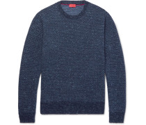 Birdseye Mélange Cashmere Sweater