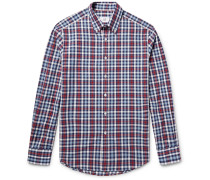 Button-down Collar Checked Cotton Oxford Shirt