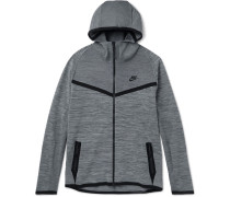 Mélange Tech Knit Zip-up Hoodie