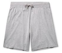 Mélange Pima Cotton-jersey Pyjama Shorts