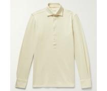 Taddeo Waffle-Knit Cotton Polo Shirt