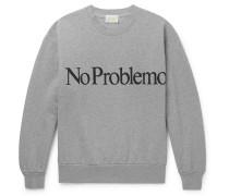 No Problemo Printed Fleece-back Cotton-jersey Sweatshirt