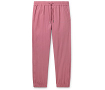 Tapered Logo-Embroidered Nylon Drawstring Trousers