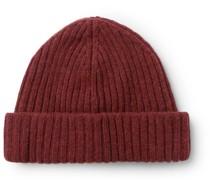 Ribbed Wool-Blend Beanie
