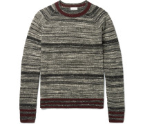 Mélange Striped Cashmere-blend Sweater