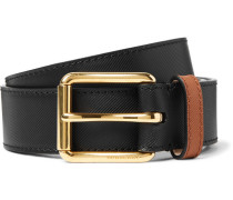 3.5cm Two-tone Embossed Leather Belt