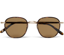 Grant Square-frame Acetate And Gold-tone Sunglasses