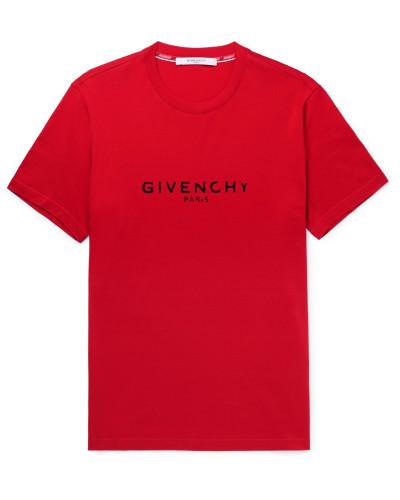 Logo-print Cotton-jersey T-shirt - Red