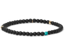 24-karat Gold, Sterling Silver, Onyx And Turquoise Bracelet