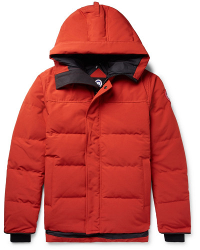 Macmillan Quilted Shell Hooded Down Parka - Orange
