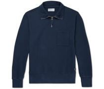 Half-Zip Loopback Cotton-Jersey Sweatshirt