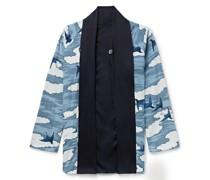 Reversible Printed Chirimen Crepe Jacket