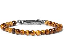 Oxidised Silver Tiger's Eye Bracelet