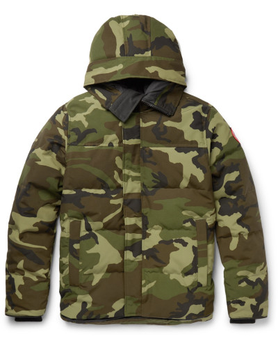 Macmillan Slim-fit Camouflage-print Quilted Shell Hooded Down Parka - Green