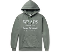 Logo-Print Fleece-Back Cotton-Jersey Hoodie