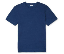 Indigo-Dyed Organic Cotton-Jersey T-Shirt