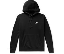 Sportswear Club Fleece-Back Cotton-Blend Jersey Hoodie