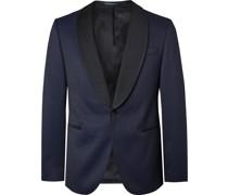 Nikan Slim-Fit Shawl-Collar Silk Satin-Trimmed Jacquard Tuxedo Jacket