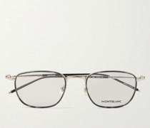 Square-Frame Silver-Tone and Acetate Optical Glasses
