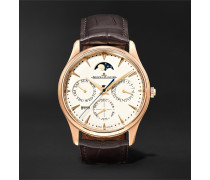 Master Ultra Thin Perpetual Automatic 39mm 18-Karat Rose Gold and Alligator Watch, Ref. No. 1302520
