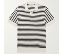 Holman Slim-Fit Striped Sea Island Cotton Polo Shirt