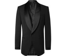 Slim-Fit Satin-Trimmed Stretch-Wool Tuxedo Jacket