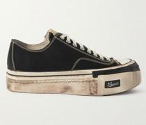 Skagway Distressed Canvas Sneakers