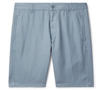 Cotton and Linen-Blend Shorts