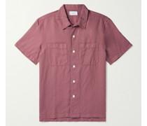 Garment-Dyed Cotton and Linen-Blend Shirt