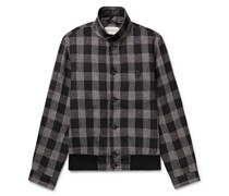Ryde Checked Linen Bomber Jacket